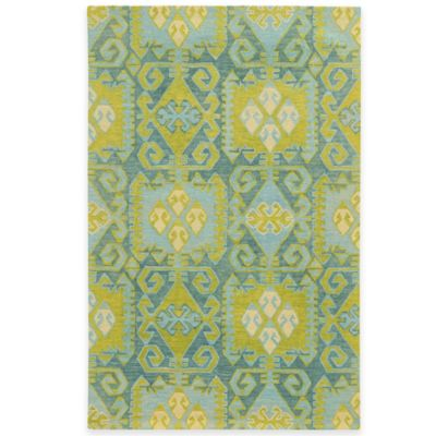 Tommy Bahama® Jamison Geometric Ikat 2-Foot 6-Inch x 8-Foot Area Runner in Blue