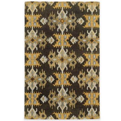Tommy Bahama® Jamison Ikat Stripe 3-Foot 6-Inch x 5-Foot 6-Inch Area Rug in Brown