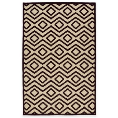 Kaleen Five Seasons Tribal Diamonds 3-Foot 10-Inch x 5-Foot 8-Inch Indoor/Outdoor Rug in Brown