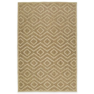 Kaleen Five Seasons Tribal Diamonds 3-Foot 10-Inch x 5-Foot 8-Inch Indoor/Outdoor Rug in Tan