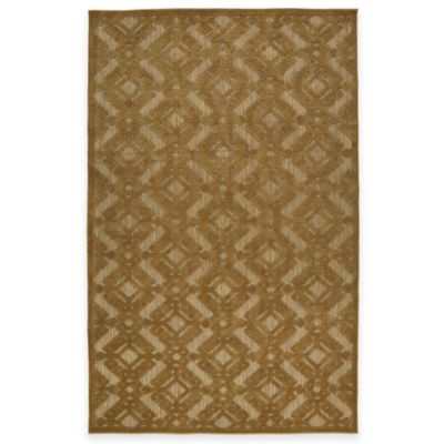Kaleen Five Seasons Cross Diamond 3-Foot 10-Inch x 5-Foot 8-Inch Indoor/Outdoor Rug in Light Brown
