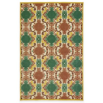 Kaleen Five Seasons Market 2-Foot 1-Inch x 4-Foot Indoor/Outdoor Accent Rug in Gold