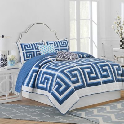 Quilted White King Pillow Shams