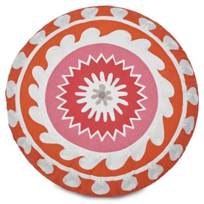 Jill Rosenwald Multi-Patch Round Throw Pillow