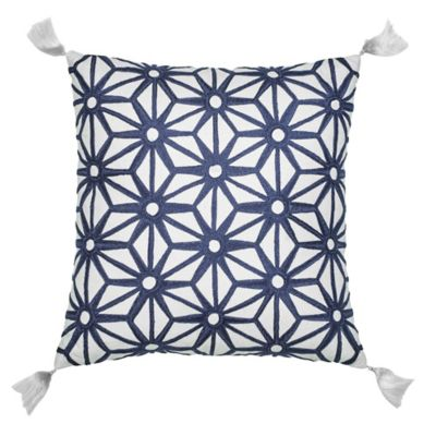 Jill Rosenwald® Greek Key Star Square Throw Pillow