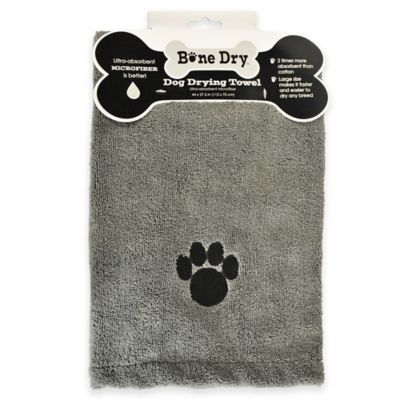 Paws Pet Drying Towel in Grey
