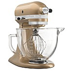 KitchenAid® 5 qt. Artisan® Design Series Stand Mixer with Glass Bowl in Champagne