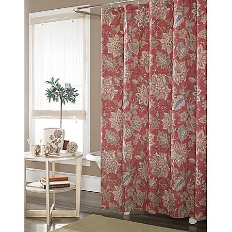 buy j queen new york springfield shower curtain in rust