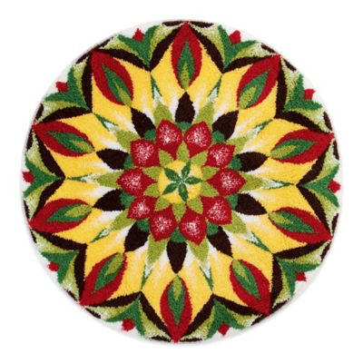 Grund® Mandala 2-Foot 8-Inch of Life Round Bath Rug