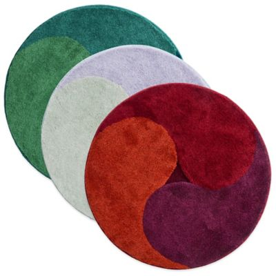 Grund® Aum 3-Foot 4-Inch Round Bath Rug in Green