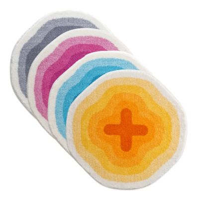 Grund® Karim Rashid 3-Foot Round Bath Rug in Orange