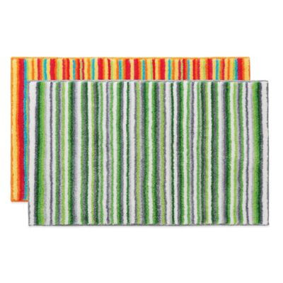 Grund® Stripes 1-Foot 9-Inch x 2-Foot 10-Inch Bath Rug in Green