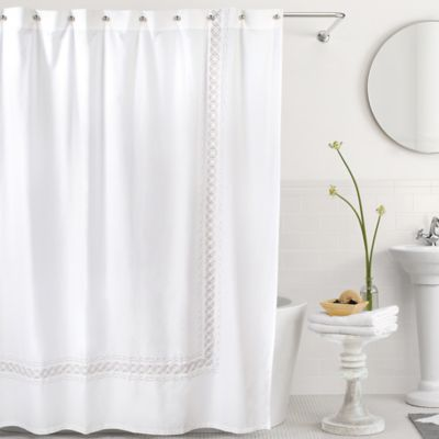 Bradford Shower Curtain in White