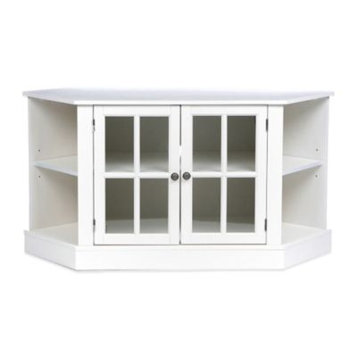 Southern Enterprises Thomas Corner Media Stand in Painted White