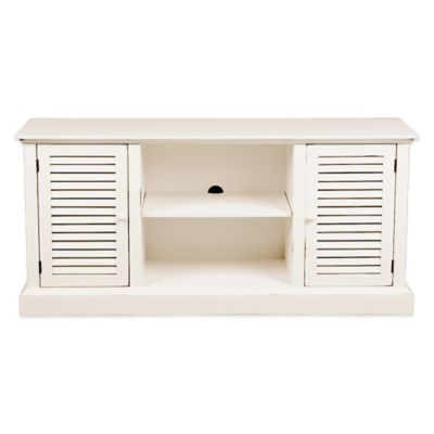 Southern Enterprises Antebellum Media Stand in Antique White