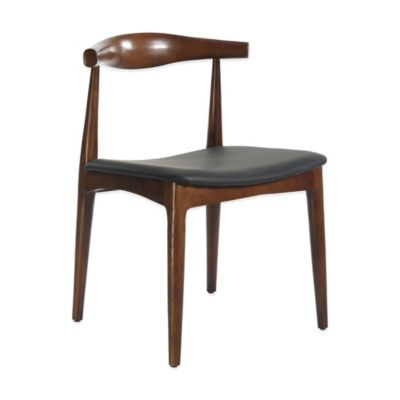 American Atelier Lilly Side Chair in Dark Brown/Black