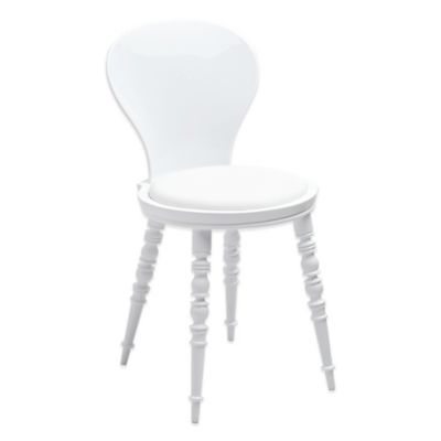 American Atelier Wynona White Side Chair with White Cushion