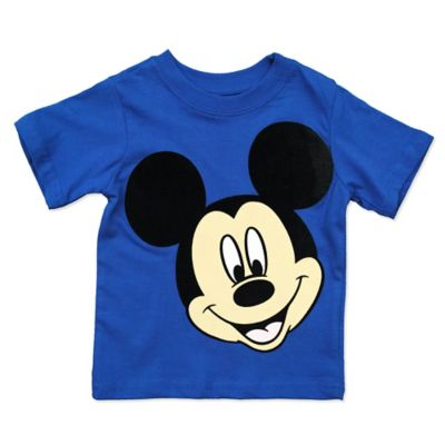 Disney® Size 12M Short-Sleeve Mickey Mouse Face Shirt in Blue