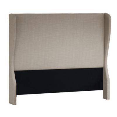 Pulaski Wing Upholstered Queen Headboard in Cream
