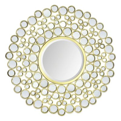 Ren-Wil Dios 42-Inch Round Mirror in Gold