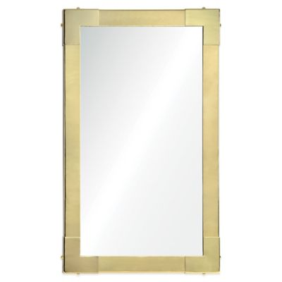 Ren-Wil Constantine 41-Inch x 25-Inch Rectangular Mirror in Gold