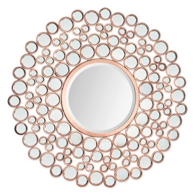 Ren-Wil Celeste 42-Inch Round Mirror in Copper