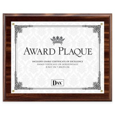 DAX® 8.5-Inch x 11-Inch Award Plaque Frame in Walnut