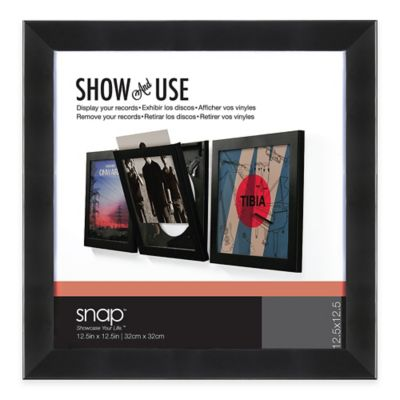 "12.5-Inch x 12.5-Inch ""Show and Listen"" Vinyl Record Frame in Black"