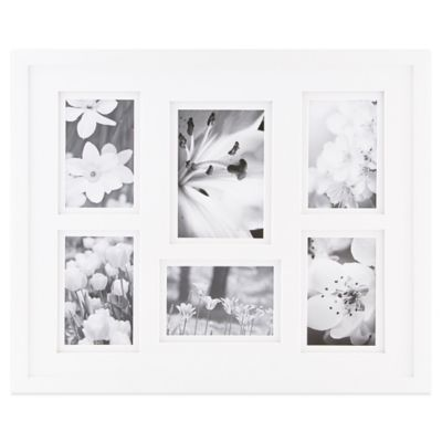 Real Simple® 6-Photo Collage Frame in White