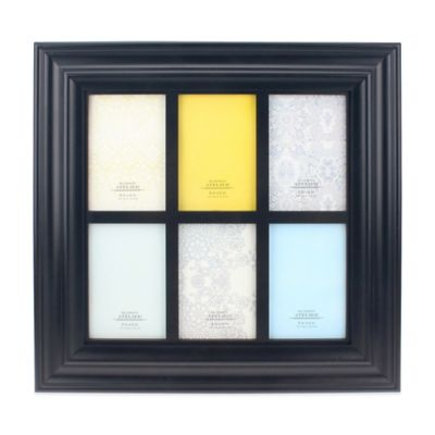 6-Photo 4-Inch x 6-Inch Collage Frame in Black