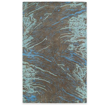 Kaleen Brushstrokes Marble 3-Inch 6-Inch x 5-Foot 6-Inch Area Rug in Chocolate