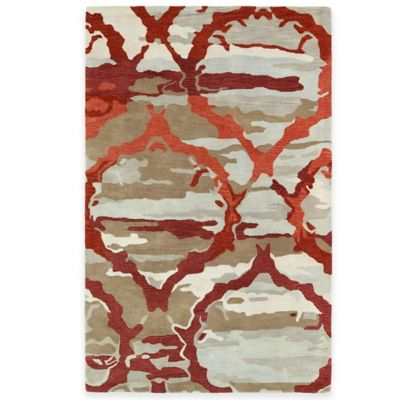 Kaleen Brushstrokes Ikat 2-Foot x 3-Foot Accent Rug in Red