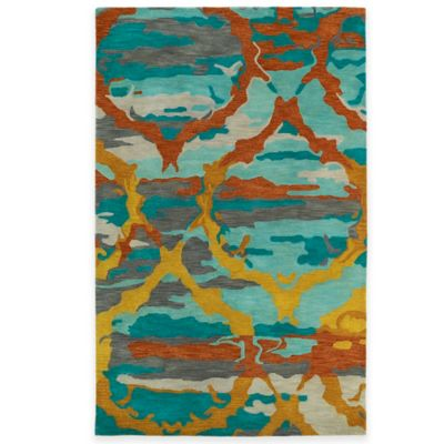 Kaleen Brushstrokes Ikat 3-Foot 6-Inch x 5-Foot 6-Inch Area Rug in Red