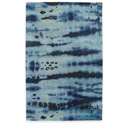 Kaleen Brushstrokes Dye 3-Foot 6-Inch x 5-Foot 6-Inch Area Rug in Gold