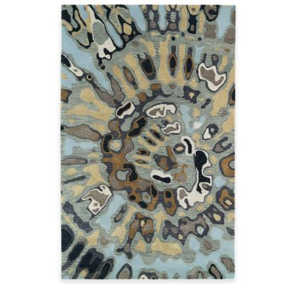 Kaleen Brushstrokes Swirl 5-Foot x 7-Foot 9-Inch Area Rug in Teal