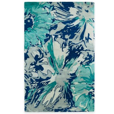 Kaleen Brushstrokes Floral 8-Foot x 11-Foot Area Rug in Gold