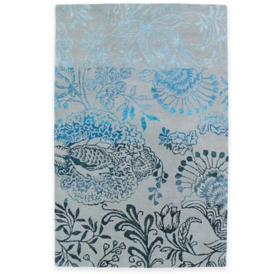 Kaleen Divine Floral 8-Foot x 11-Foot Area Rug in Ice