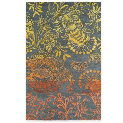 Kaleen Divine Floral 8-Foot x 11-Foot Area Rug in Fire Orange