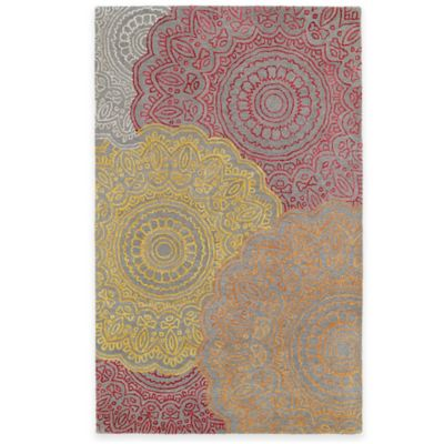 Kaleen Divine Medallion 3-Foot 6-Inch x 5-Foot 6-Inch Area Rug in Fire Red