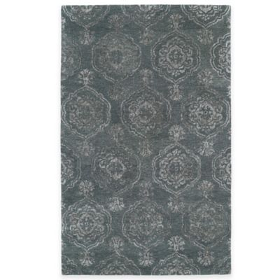 Kaleen Divine Coin Medallion 2-Foot x 3-Foot Accent Rug in Pewter Green