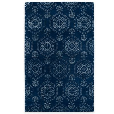 Kaleen Divine Coin Medallion 8-Foot x 11-Foot Area Rug in Pewter Green