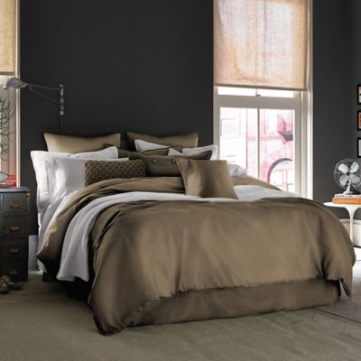 Kenneth Cole Reaction Home Mineral Full/Queen Duvet Cover in Olive