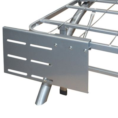 E-Rest Headboard/Footboard Brackets in Silver (Set of 2)