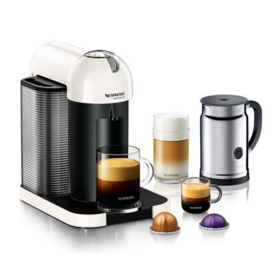 Single Coffee Maker Bed Bath And Beyond : Buy Nespresso VertuoLine Coffee and Espresso Maker Bundle in White from Bed Bath & Beyond