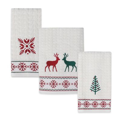 Nordic Jacquard Embroidered Bath Towel