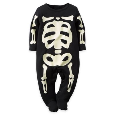Carter's® Size 3M Glow-in-the-Dark Halloween Footie in Black