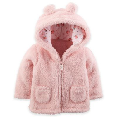 Carter's® Size 3M Hooded Sherpa Jacket in Pink