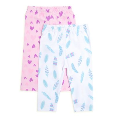 Rosie Pope® Love Bug Size 3-6M 2-Pack Feathers/Hearts Leggings