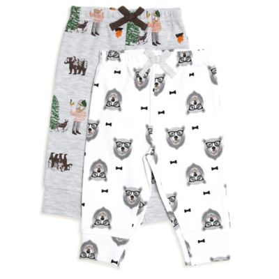 Rosie Pope® Natural History Size 0-3M 2-Pack Camping/Bear Pant