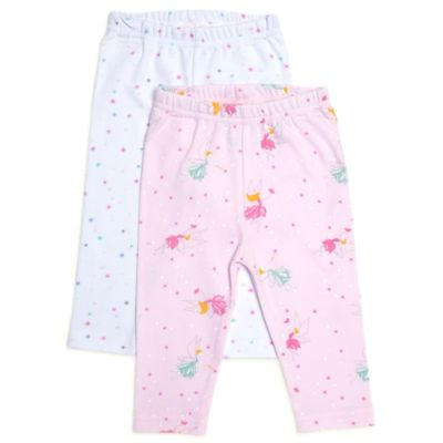 Rosie Pope® Size 0-3M 2-Pack Fairy Woods Leggings in Pink/White